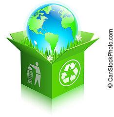 箱, リサイクルしなさい, 地球, 出荷