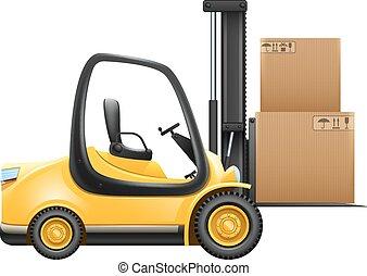 箱, リフト, トラック