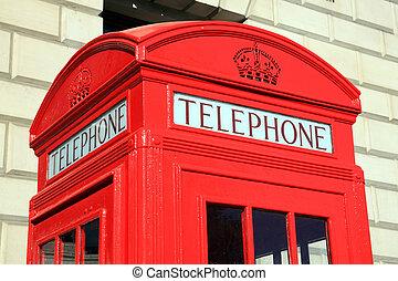 箱, ロンドン, 電話, 赤