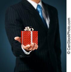 箱, 人, 保有物, 贈り物, 赤