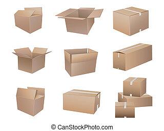 箱, 出荷, コレクション