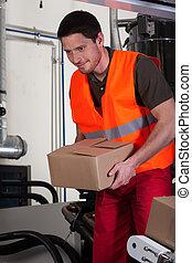 箱, 労働者, ブルーカラーである, 保有物
