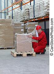 箱, 労働者, 包むこと