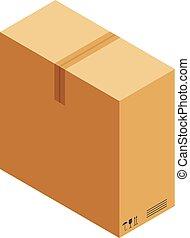 箱, 大きい, アイコン, 等大, スタイル