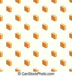 箱, 大きい, ベクトル, seamless, パターン