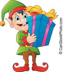 箱, 妖精, 漫画, 贈り物, 保有物