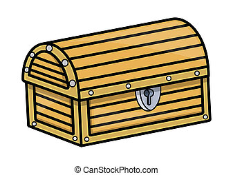 箱, 宝物, -, 漫画, ベクトル