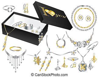 箱, 宝石類