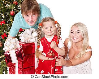 箱, 家族, 贈り物,  santa, 保有物, 帽子, 幸せ