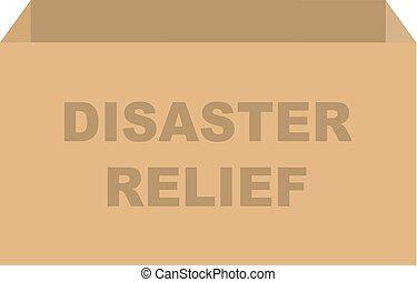 箱, 寄付, ベクトル, 災害援助