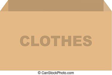 箱, 寄付, ベクトル, 衣服