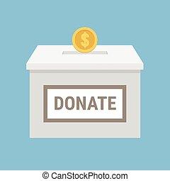 箱, 寄付, ベクトル