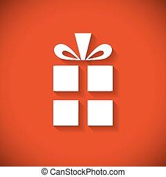 箱, 平ら, card., 贈り物, 挨拶, デザイン, クリスマス