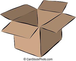 箱, 引かれる, ボール紙, 引っ越し, 手