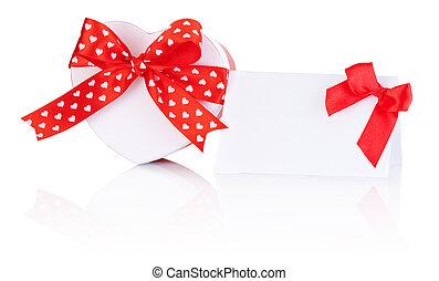 箱, 心, 贈り物, 形づくられた, 結ばれた, あばら骨