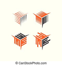 箱, 抽象的, 貯蔵, ベクトル, ロゴ, アイコン