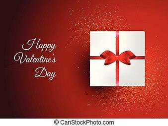 箱, 日, 背景, 贈り物, バレンタイン