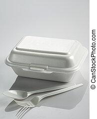 箱, 昼食, styrofoam