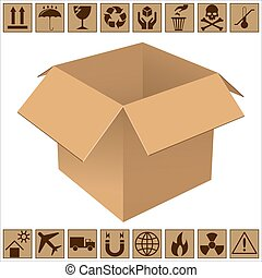 箱, 現実的, ボール紙