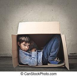 箱, 男の子