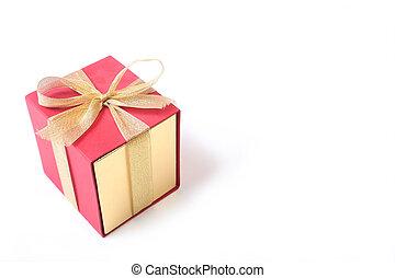 箱, 白い背景, ギフトの弓
