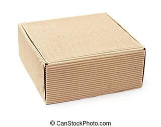 箱, 白, ボール紙, 背景