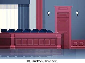 箱, 空, 内部, 正義, 陪審, 法廷, 横, 席, 概念, 現代, 法学