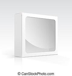 箱, 窓, ベクトル, 透明, ブランク
