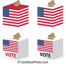 箱, 米国, 投票, poll, 投票