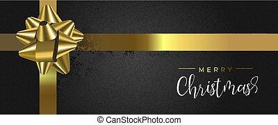 箱, 網, 金, 贈り物, 旗, クリスマス, リボン