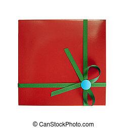 箱, 緑, 生地, 贈り物, 赤