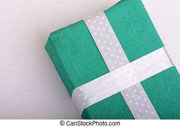 箱, 緑, 贈り物