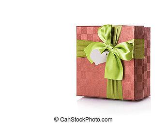 箱, 緑, 贈り物, 赤