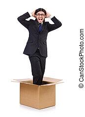 箱, 考え, 概念, から, 人