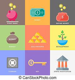 箱, 財布, お金, 豚, 木, ドル, コイン銀行