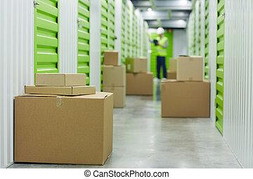 箱, 貯蔵 部屋, ボール紙