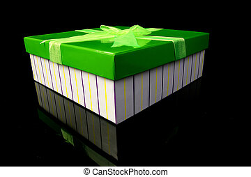 箱, 贈り物, 緑