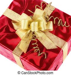 箱, 贈り物, 金船首, 痛みなさい, 赤