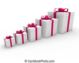 箱, 贈り物, 3d