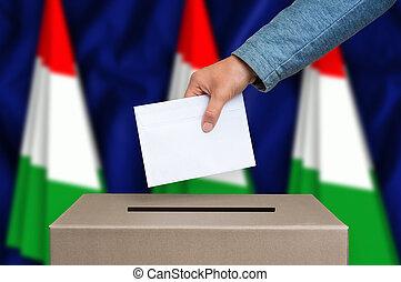 箱, -, 選挙, ハンガリー, 投票, 投票
