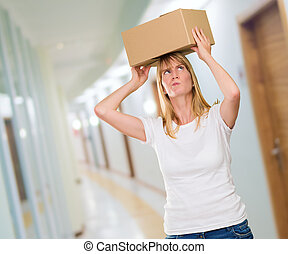 箱, 頭, 女性の保有物, 彼女