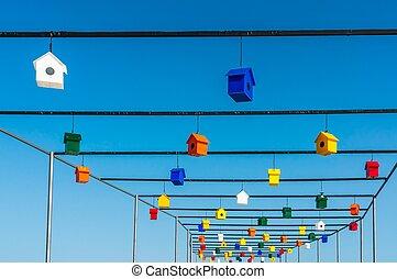 箱, 鳥, birdhouses, ∥あるいは∥, ネスティング