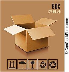 箱, 3d, アイコン