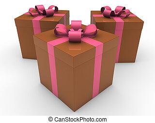 箱, 3d, 贈り物, 祝福