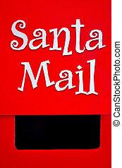 箱, claus, (xmas), santa, メール, 休日, クリスマス
