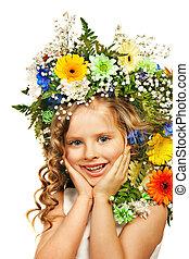 箱, flower., 贈り物, 子供