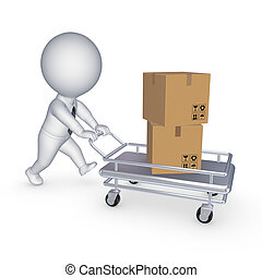 箱, pushcart.