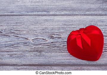 箱, ribbon., ビロード, 赤, 贈り物