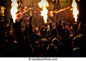 節日, 音樂會, 音樂, 岩石