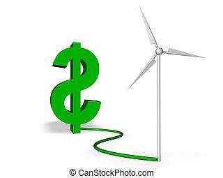 節約, 緑, エネルギー